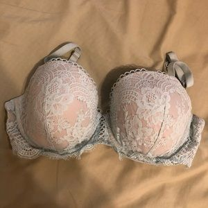Victoria secret mint green/white lace bra!